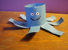 Happy blue Octopus (2 for 5 dollars). $5.00, via Etsy.
