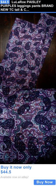 Women Leggings: Lularoe Paisley Purples Leggings Pants Brand New Tc Tall And Curvy BUY IT NOW ONLY: $44.5