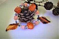 Sima-polodrahokamy / náramok z drahých kemeňov - lístočkový Bracelets, Jewelry, Carnelian, Bangles, Jewlery, Jewels, Bracelet, Jewerly, Jewelery