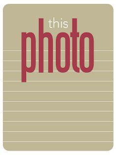 free this photo journaling card
