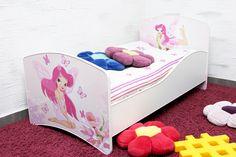 #Łóżko dla #Dziewczynki z grafiką bajkowych #wróżek. Bardzo fajny pomysł dla pokoju dziecięcego.  #pokójdziecka #łóżkodzieciece