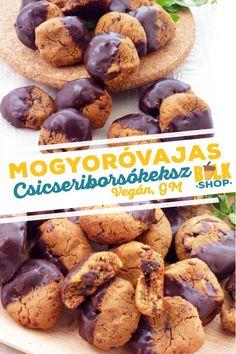 mogyoróvajas csicseriborsókeksz vegán bulkshop plantbased Candida Diet, Healthy Recipes, Healthy Foods, Paleo, Beans, Gluten Free, Sweets, Snacks, Cookies