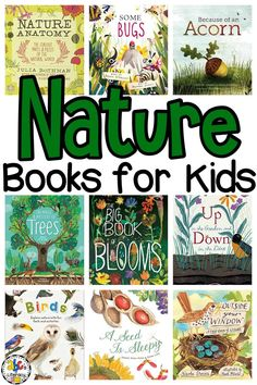 From trees to bugs and everything in between, your kids will love learning all about nature this Spring with these Nature Books. These read alouds are a great addition to your nature unit or science lessons. Or, read these picture books before your next outdoor adventure or camping trip. Click on the picture to learn more about these nature books for kids! #picturebooks #booklist #naturebooks #booksforkids #readalouds