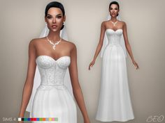 beocreations:   At your requests  Wedding variant of Cristina collection :) Cristina collection - Wedding dress (S4) DOWNLOAD