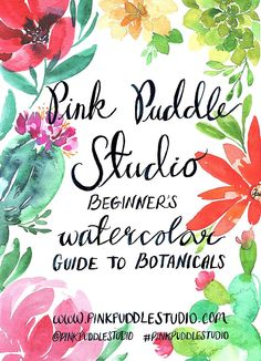Pink Puddle Studio Botanical Guide Watercolor Booklet