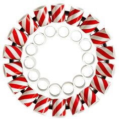 Candy cane PVC holiday wreath