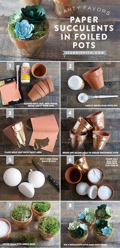 Diy Paper Succulent Pot Tutorial