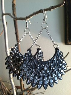 SaleFREEDOM Earrings in Black by DistractedRenegade on Etsy, $15.00