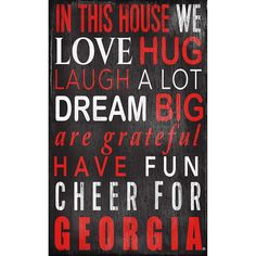 Georgia Bulldogs In This House Wall Art, Multicolor