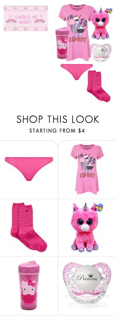 """""""Lazy Day With Daddy (DD/lg)"""" by keona-merry ❤ liked on Polyvore featuring STELLA McCARTNEY, Wildfox, Lauren Ralph Lauren, Hello Kitty and Glitter Pink"""