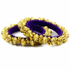 Alia Bangle Set http://blossomboxjewelry.com/db12.html #purple #indianjewelry #churiya #bangles #armcandy