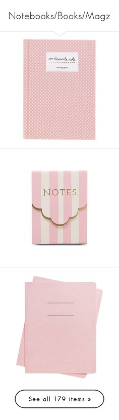 """""""Notebooks/Books/Magz"""" by intanology ❤ liked on Polyvore featuring home, home decor, stationery, fillers, books, pink, pink fillers, accessories, backgrounds and magazine"""