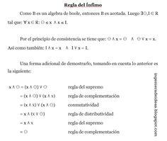 Demostración de la regla del ínfimo en algebras de boole