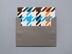 Letterpress Tartan Cards from Present & Correct.