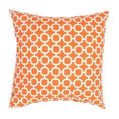 Veranda Pillow in Jaffa Orange & Bright White design by Jaipur (34 CAD) ❤ liked on Polyvore featuring home, home decor, throw pillows, pillows, outside home decor, outdoor toss pillows, white home decor, white throw pillows and whimsical home decor