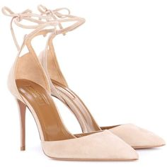 Aquazzura Heart Breaker 105 Suede Pumps (13.565 UYU) ❤ liked on Polyvore featuring shoes, pumps, heels, aquazzura, sandals, beige, aquazzura shoes, suede pumps, heart shoes and beige suede shoes