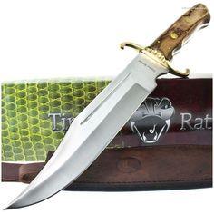 Timber Rattler TR85 El Paso Huge Bowie Knife w/ Sheath | MooseCreekGear.com | Outdoor Gear — Worldwide Delivery! | Pocket Knives - Fixed Blade Knives - Folding Knives - Survival Gear - Tactical Gear