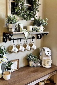 From farmhouse inspired to modern industrial, this roundup of coffee-themed deco. From farmhouse inspired to modern industrial, this roundup of coffee-themed decor will suit every kitchen design style. Read on for our top picks! Farmhouse Kitchen Decor, Kitchen Design Styles, Interior, Farmhouse Decor, Coffee Bar Home, Kitchen Decor Themes, Farmhouse Interior, Home Decor, Farmhouse Interior Design