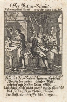 Kettingsmid, Jan Luyken, anoniem, 1698