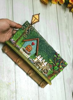 Diy Crafts Hacks, Diy Arts And Crafts, Polymer Clay Crafts, Diy Clay, Cardboard Crafts, Paper Crafts, Name Plate Design, Clay Wall Art, Clay Art Projects