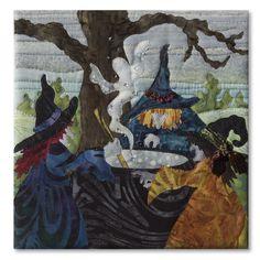 Book Club block, in the Halloweenies quilt by McKenna Ryan at Pine Needles