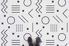 """Primary"" Minimalist Abstract Shape Vinyl Flooring, leading Vinyl Flooring manufactured by Atrafloor. Bring any design to life as Flooring. Best Flooring, Vinyl Flooring, Bathroom Vinyl, Bathroom Ideas, Rubber Tiles, Floor Decal, Blue Palette, Patterned Vinyl, Vinyl Tiles"