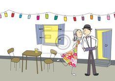 Sticker fenêtre, facade, rencontre, mariage, lumière, juillet, national, drague.