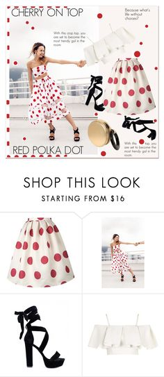 """CHERRY POLKA DOT"" by paculi on Polyvore featuring Topshop and Perrin"