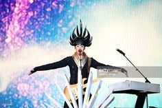 Singer/songwriter Luke Steele of Empire of the Sun performs during Rock in Rio USA at the MGM Resorts Festival Grounds on May 16, 2015 in Las Vegas, Nevada.
