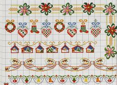 poinsettias, stockings, hearts, creches motifs