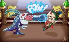 League of Legends - Kog'Maw and Teemo by Kipumylly