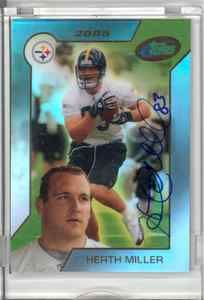 eTopps in Hand 2005 Heath Miller Rookie RC Hand Signed Autograph COA Steelers | eBay