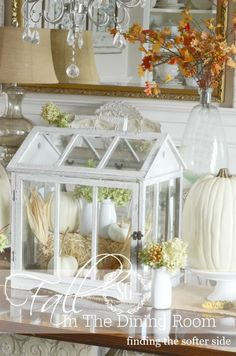 FALL IN THE DINING ROOM The softer side of Autumn. Lots of inspiration