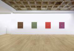 "Meg Cranston & John Baldessari, ""Real Painting (for Aunt Cora)"", Installation View, Galerie Michael Janssen Berlin, 2013  #MegCranston #JohnBaldessari #Art #painting #Color #pantone #Berlin"