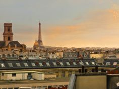 Romantic view of #Paris with the Eiffel Tower, Les Invalides and Saint Sulpice from the Saint Michel vacation rental.