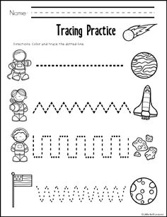Preschool Counting Worksheets - Space theme for Preschool Printable Preschool Worksheets, Free Kindergarten Worksheets, Worksheets For Kids, Preschool Kindergarten, September Preschool, Space Theme Preschool, Space Activities, Motor Activities, Preschool Activities