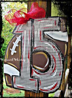Alabama Roll Tide 15 football Wood Cut Out by TheWaywardWhimsy, $35.00