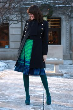 love the idea of wearing colorful tights paired w/ equally colorful shoes