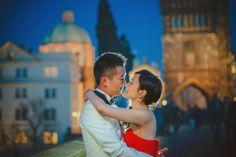 Suki & Steven's beautiful pre wedding portraits in Prague atop the world famous Charles Bridge by American Photographer Kurt Vinion Charles Bridge, Prague Castle, World Famous, Wedding Portraits, Destination Wedding, Wedding Photography, Romantic, Couple Photos, American