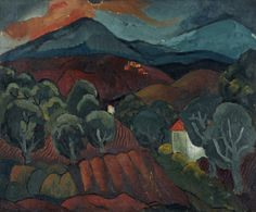 """Landscape at Vence"" by Christopher Wood, 1927 (oil on canvas)"