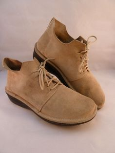 Vivanz Suede Leather Ankle Boots Made in Italy Size US 7 1/2 7.5 EU 38 Beige #Vivanz #FashionAnkle
