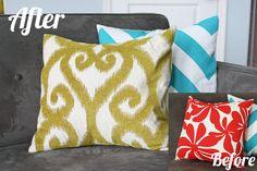Envelope pillows diy