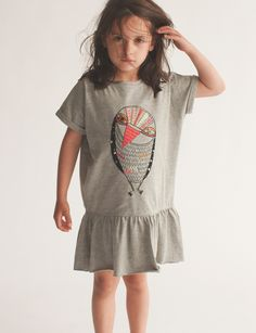 A dress or a t-shirt? Little Fashion, Kids Fashion, Kids Mode, Owl Dress, Cool Kids Clothes, Kids Prints, Baby Design, Couture, Kids Wear