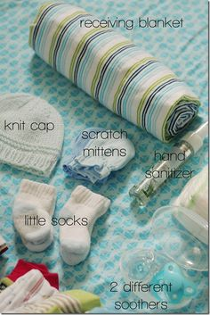 What you should bring to the hospital for you and baby. *best list I have found. I love the idea of Vaseline on baby's bum to help the first few poos to come off cleanly!