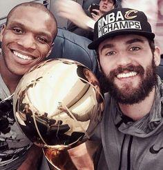 Love/Jones after NBA Champuinship Win