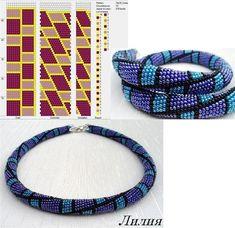 Галерея вязанных жгутиков-шнуриков и узоры к ним | biser.info - всё о бисере и…