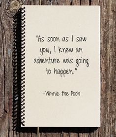 Adventure Journal  Winnie the Pooh Notebook  by CulturalBindings