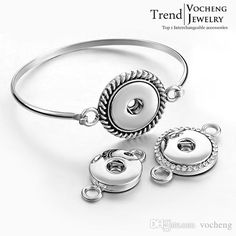 Cute Charm Bracelets Vocheng Noosa 2015 Trendy Snap Button Jewelry Convertible Bangle Interchangeable Silver Plated Diy Jewelry Nn 252 Charm Bracelet Brands From Vocheng, $0.76  Dhgate.Com