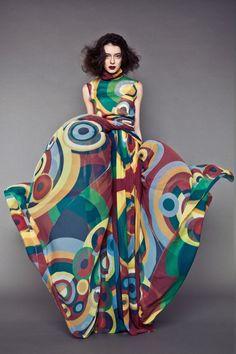 Resultado de imagen de sonia delaunay fashion fabrics