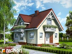 Ideas For Villa Landscape Design Mansions Home Design Plans, Plan Design, Attic Design, Sims House, Home Fashion, Modern House Design, Traditional House, Old Houses, Landscape Design